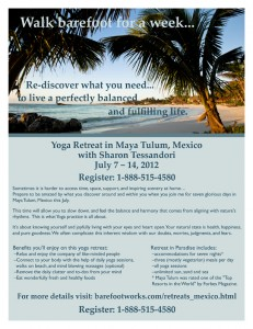 2012 Tulum Yoga Retreat Flyer